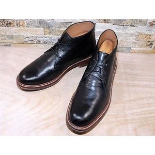 コールハーン(Cole Haan)のコールハーン プレーントゥチャッカブーツ 黒 2727,5cm(ブーツ)
