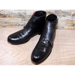コールハーン(Cole Haan)のコールハーン ダブルモンクストラップ アンクルブーツ 黒 27,528cm(ブーツ)
