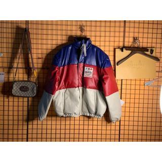 vennette 時計 偽物ヴィトン - Gucci - 【GUCCI】パッチ付 ブルー レザージャケット ダウンの通販