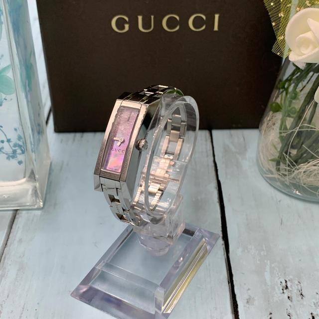 ヴィトン ダミエ 長財布 激安アマゾン / Gucci - Gucci YA110520 ピンクパール Gライン レディース ブレスウォッチの通販 by Misao shop