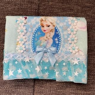アナトユキノジョオウ(アナと雪の女王)のアナ雪 移動ポケット エルサ ハート レース ブルー ディズニー プリンセス(外出用品)