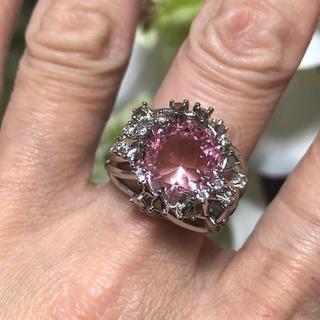 天然宝石ピンクサファイアリング(リング(指輪))