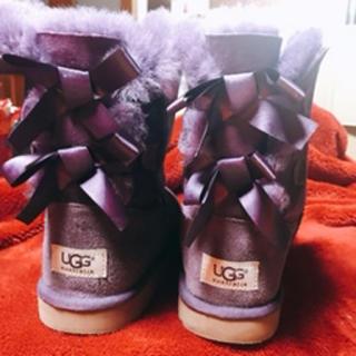 アグ(UGG)のアグ 23センチ パープル美品(ブーツ)