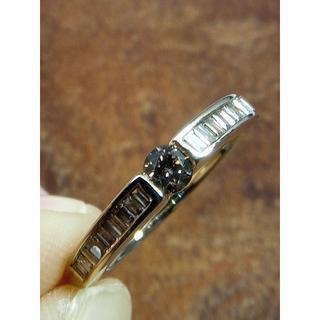 ブラウンダイヤの素敵なリング!K18ダイヤリング 15号(リング(指輪))