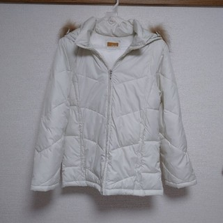 イッカ(ikka)のikka★白 ファー付きコート  Mサイズ(その他)