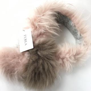 フルラ(Furla)のFULRA フルラ カシミヤ ファー マフラー 山羊 新品 タグ付き ピンク(マフラー/ショール)