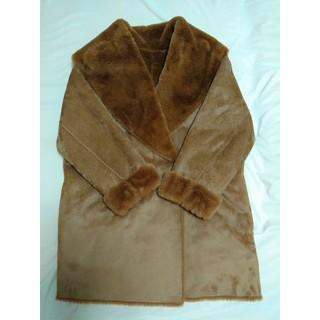ジーユー(GU)の新品 高品質 ファーコート 人気 おしゃれ ブラウン 茶色 ファー(毛皮/ファーコート)