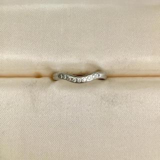 ティファニー(Tiffany & Co.)のティファニー 9p ダイヤモンド カーブド バンドリング Pt950 3.0g(リング(指輪))