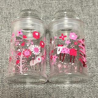 カルディ(KALDI)のKALDI モモめぇ クッキージャー 空瓶 2個セット(容器)