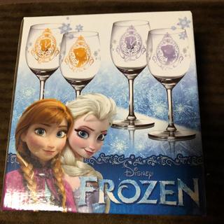 アナトユキノジョオウ(アナと雪の女王)の新品☆ディズニー アナと雪の女王  ペアワイングラス(グラス/カップ)