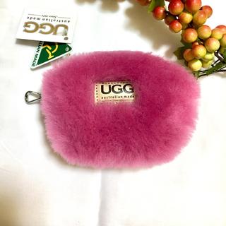 アグ(UGG)の【オリジナル】アグ  UGG ファー ポーチ コインケース 本革 ピンク(コインケース)