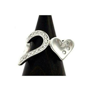 アスプレンディ K18WG ダイヤモンド ピンキーリング 現行品 46.2万円(リング(指輪))