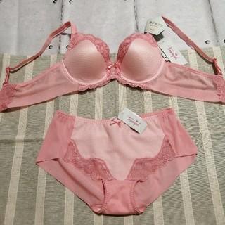 トリンプ(Triumph)のA75 ピンク トリンプ 恋するブラ (ブラ&ショーツセット)