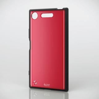 エレコム(ELECOM)のXperia XZ1 (SO-01K SOV36)用ガラストップ風カバー レッド(Androidケース)