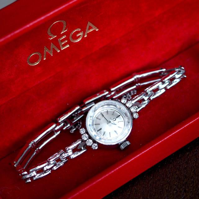 OMEGA - 美品✨オメガ プラチナ×ダイヤ8石 仕上げ済✨ロレックス エルメス ティファニーの通販 by Plumage❤︎antique watch