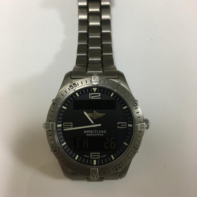 グッチ 時計 偽物 見分け方バッグ 、 BREITLING - ブライトリング エアロスペース E56062の通販 by あいく's shop
