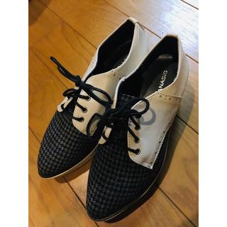 ジーナシス(JEANASIS)のJEANASIS チェック厚底ローファー(ローファー/革靴)