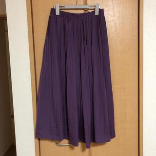 アベイル(Avail)のロングプリーツスカート 紫 パープル(ロングスカート)