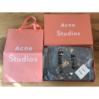 アクネ(ACNE)の【最安】新品未使用 Acne Studios アクネ 大判ストール グレー(ストール/パシュミナ)