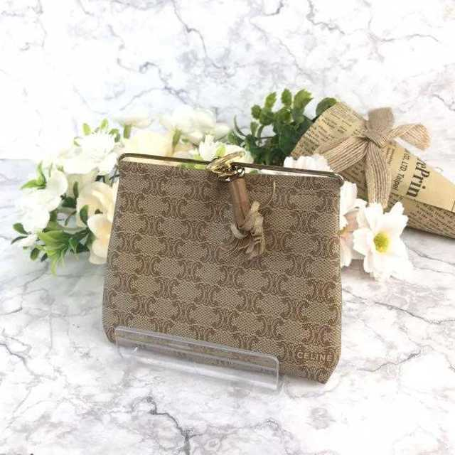 celine - �セール� CELINE セリーヌ コインケース シグ��ャー カーキ�通販 by �購入歓迎shop