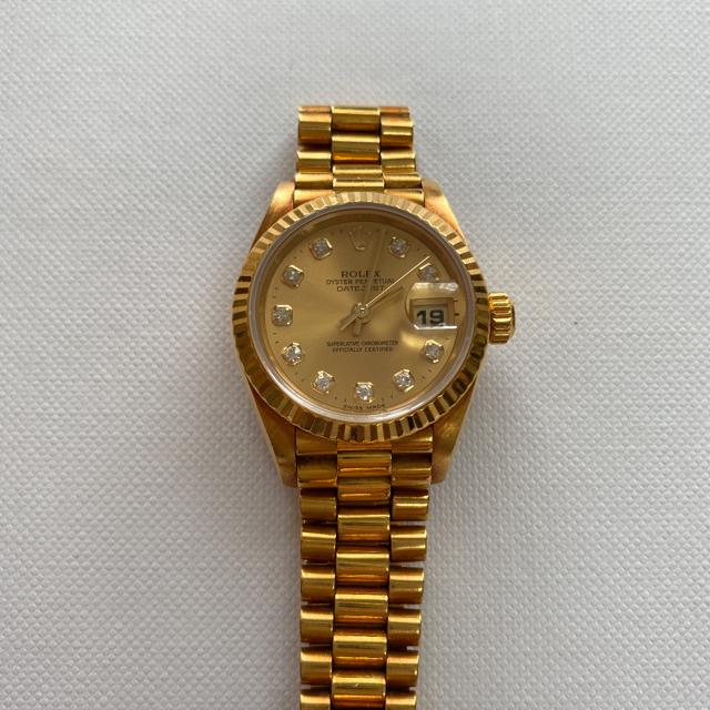 ロレックス ピンク ゴールド デイトナ | ROLEX - ROLEX デイトジャスト 18K 750 腕時計の通販 by happytorn