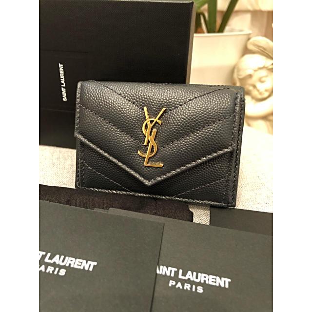 Saint Laurent - サンローラン☆三つ折り財布★タイニーウォレットの通販 by ジュリア's shop