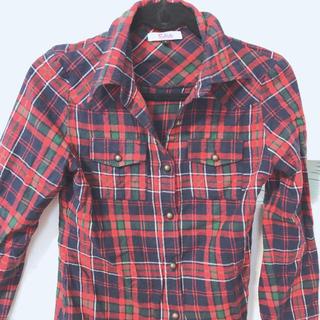 ピンクラテ(PINK-latte)のピンクラテのチェックシャツ(シャツ/ブラウス(長袖/七分))