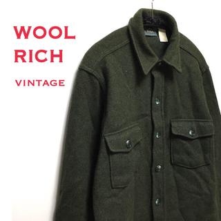 ウールリッチ(WOOLRICH)のWOOL RICH  ウールリッチ ウール 100% シャツ グリーン(シャツ)