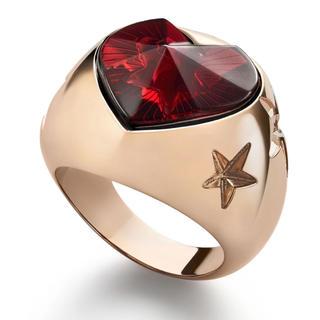 バカラ(Baccarat)の新作 Baccarat バカラ 指輪 ハート スター リング レッド(リング(指輪))