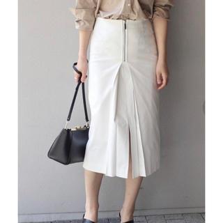 ノーブル(Noble)のノーブル 白 タイトスカート(ひざ丈スカート)