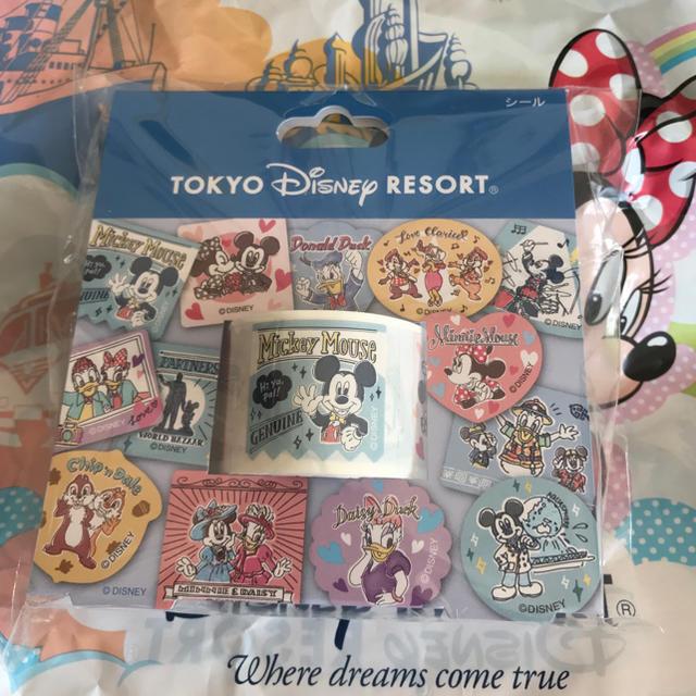Disney ディズニーリゾート限定商品 ディズニーキャラクターイラストロールシール1本の通販 By ファンタジア S Shop ディズニー ならラクマ