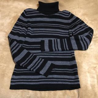 イーストボーイ(EASTBOY)のタートルネックセーター[黒](ニット/セーター)