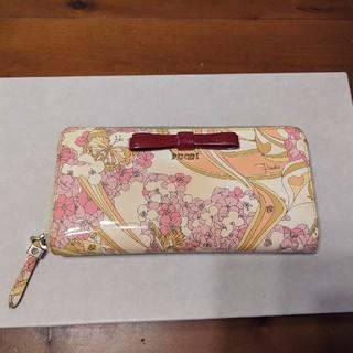 エミリオプッチ(EMILIO PUCCI)のPUCCI長サイフ、花柄イエロー&ピンク(財布)