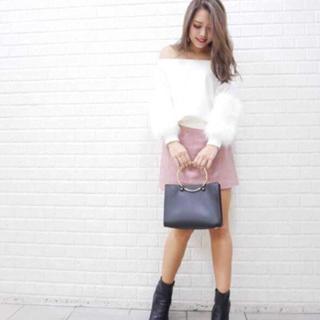リエンダ(rienda)のrienda  Faux Fur SLV Knit TOP  (ニット/セーター)