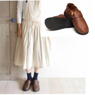 トリッペン(trippen)のAurora shoes/middle english/ハーフD ダークブラウン(ローファー/革靴)