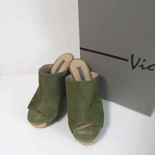 VIC ビック ウェッジソール ミュール 厚底 イタリア製 美品(ミュール)