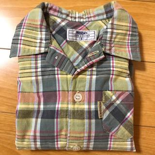 パーソンズキッズ(PERSON'S KIDS)のPERSON'Sチェックシャツ S(90)(Tシャツ/カットソー)
