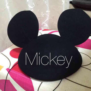 ディズニー(Disney)のミッキー ベレー帽 ミミ 耳 コスプレ(ハンチング/ベレー帽)