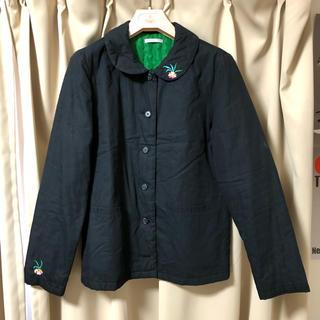 フェリシモ(FELISSIMO)のフェリシモ 中綿入り刺繍ジャケット L(ダウンジャケット)