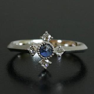 ベーネベーネ サファイア ダイヤモンド 18金 ローズカット k18WG リング(リング(指輪))