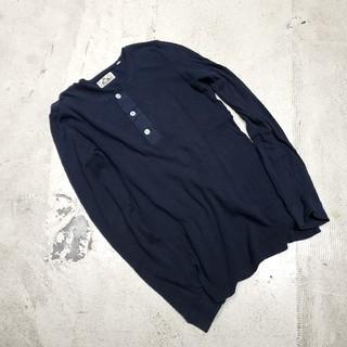 オクラ(OKURA)のOKURA オクラ インディゴ染め ヘンリーカットソー 長袖Tシャツ 3(Tシャツ/カットソー(七分/長袖))