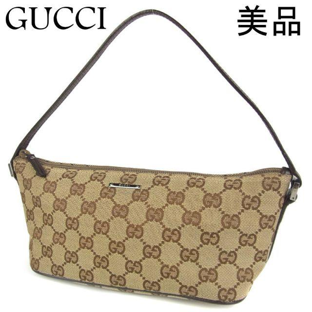 Gucci - グッチ 美品 GG キャンバス×レザー アクセサリー ポーチ ハンド バッグの通販 by 年末年始セール開催中 mammut's shop