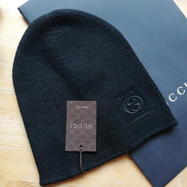 Gucci - 正規品 グッチ ニット帽 新品、タグ、箱付き 黒の通販 by YAMATO's shop