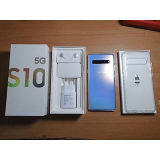 サムスン(SAMSUNG)のSamsung Galaxy S10 5G 512GB Simフリー シルバー(スマートフォン本体)