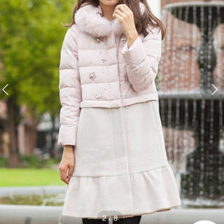 ローズティアラ(Rose Tiara)の新品 Rose Tiara 2WAYレングスビジュー調ロングダウンコート(ダウンコート)