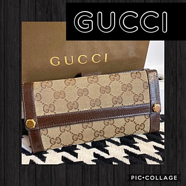 Gucci - 正規品꙳★綺麗GUCCIグッチ✧︎GGキャンバス長財布✧︎グッチ長財布✧︎の通販 by ☆くりりん☆年末年始通常通り♪♪