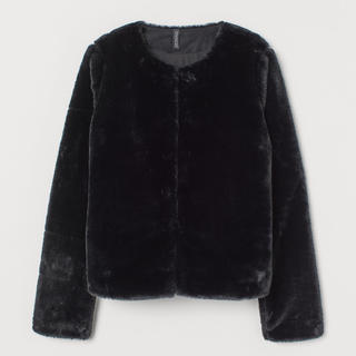 エイチアンドエム(H&M)のフェイクファージャケット(毛皮/ファーコート)