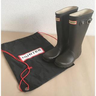 ハンター(HUNTER)の値下げ 保存袋付 19㎝ ハンター HUNTER  キッズ レインブーツ 長靴(長靴/レインシューズ)