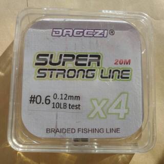 PEライン 20m x4 0.6号 10LB 0.12mm 釣り糸 ワカサギ等(釣り糸/ライン)