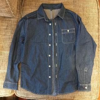 UNIQLO - UNIQLO boys150 シャンブレーシャツ